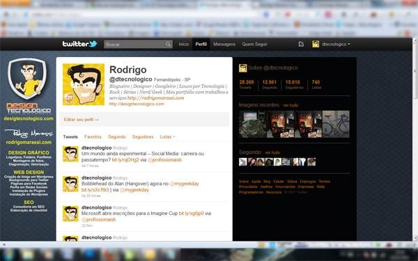 Tamanho background twitter