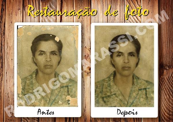 Restauração Fotos Antigas Estragadas